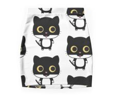 Black cat is happy Mini Skirt