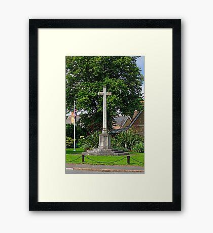 War Memorial, Bembridge Framed Print