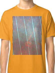 Red stripes on grunge  Classic T-Shirt