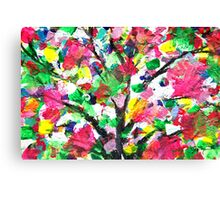 Happy Tree Abstract by Jan Marvin Canvas Print