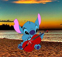 Stitch and a cello - beach by eleanor89