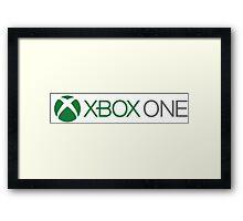 Xbox One Logo Framed Print