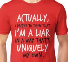 """. . . I'm a liar in a way that's uniquely my own."" Jace Quote Unisex T-Shirt"