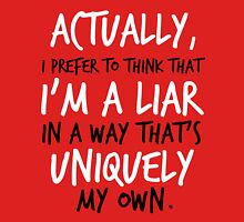 """"""". . . I'm a liar in a way that's uniquely my own."""" Jace Quote Unisex T-Shirt"""