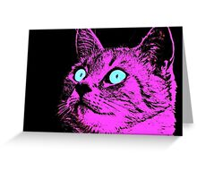 Pink Purr Greeting Card