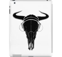 Skull and Phones (blackline) iPad Case/Skin