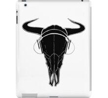 Skull and Phones (blackline) iPad Case/Skin