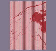 Red stripes on grunge textured pink background Kids Tee