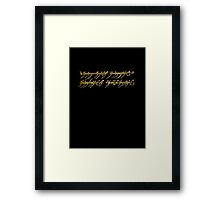 Lord of the Rings Inscription Framed Print