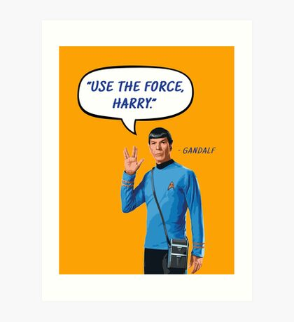Use the force, Harry Art Print