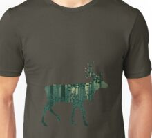 Deer and Abstract Forest Landscape 2 Unisex T-Shirt