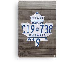 Toronto Maple Leafs Wood Plank License Plate Art - Grey Canvas Print