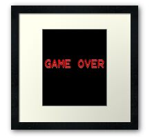 Game Over Shirt - Retro Video Game Framed Print