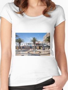 Moseley Square in Glenelg, Adelaide,South Australia Women's Fitted Scoop T-Shirt