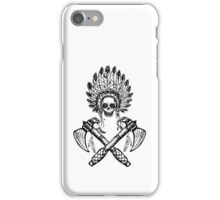 North American Indian chief with tomahawk iPhone Case/Skin