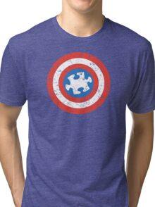 SuperHero Captain America Autism Tri-blend T-Shirt
