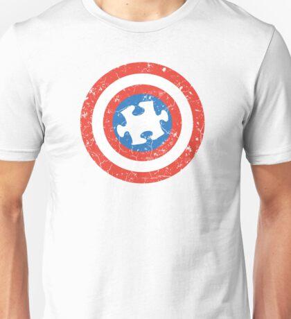 SuperHero Captain America Autism Unisex T-Shirt