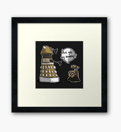 Are you my mummy? - GOLD version Framed Print