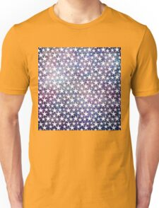White stars on bold grunge blue Unisex T-Shirt
