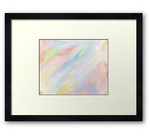 Phoenix Sky Watercolor Art Framed Print
