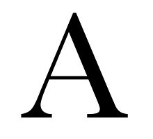 The Letter 'A' by RebeccaStephens