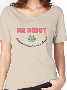 Computer Repair with a Smile - Mr Robot Women's Relaxed Fit T-Shirt