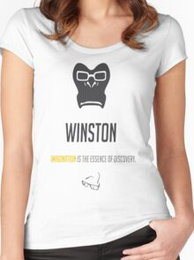OVERWATCH WINSTON Women's Fitted Scoop T-Shirt