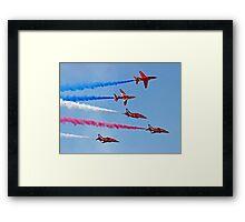 The Red Arrows - Rollbacks - Farnborough 2014 Framed Print