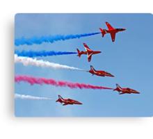 The Red Arrows - Rollbacks - Farnborough 2014 Canvas Print