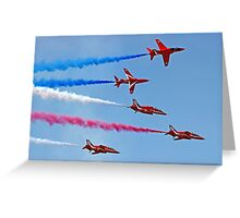 The Red Arrows - Rollbacks - Farnborough 2014 Greeting Card