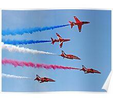 The Red Arrows - Rollbacks - Farnborough 2014 Poster