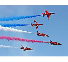 The Red Arrows - Rollbacks - Farnborough 2014 Photographic Print