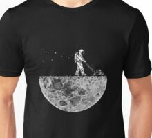 Astronaut mowing the moon Unisex T-Shirt
