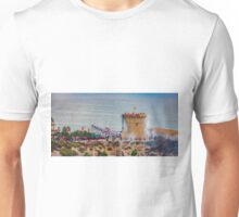 Gunfire and crowds at the watchtower Unisex T-Shirt