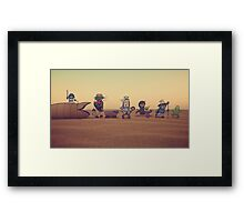 Getting along with the locals Framed Print