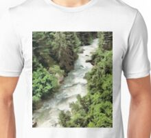 Fast moving river Unisex T-Shirt