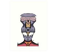 Alien Skeleton Commander Art Print