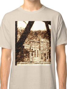 Old Western Town, Sepia   Classic T-Shirt