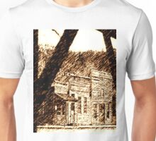 Old Western Town, Sepia   Unisex T-Shirt