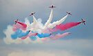 The Red Arrows - Break - Dunsfold 2014 by Colin J Williams Photography