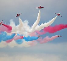 The Red Arrows - Break - Dunsfold 2014 by Colin  Williams Photography