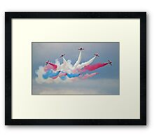 The Red Arrows - Break - Dunsfold 2014 Framed Print