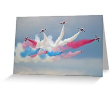 The Red Arrows - Derantor - Dunsfold 2014 Greeting Card