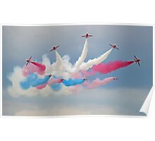 The Red Arrows - Detanator - Dunsfold 2014 Poster