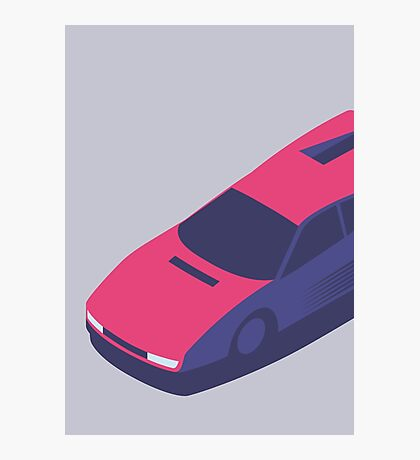 Ferrari Testarossa Isometric (Large Grey) Photographic Print
