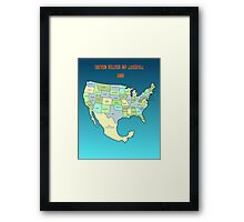Welcome to the USA of tomorrow! Framed Print