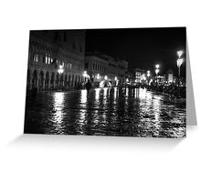 Venice by shadows Greeting Card