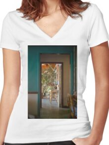 Through the Doorway Women's Fitted V-Neck T-Shirt