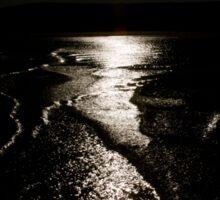 Rock, Cornwall, UK, Sunlight in Black ~ Atlantic Coast Sticker