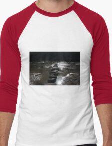 Perranporth, Cornwall, UK, The Stepping Stones ~ Atlantic Coast Men's Baseball ¾ T-Shirt